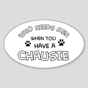 Chausie Cat Designs Sticker (Oval)