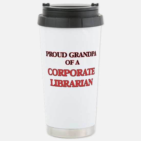 Proud Grandpa of a Corp Stainless Steel Travel Mug