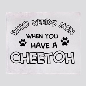 Cheetoh Cat Designs Throw Blanket