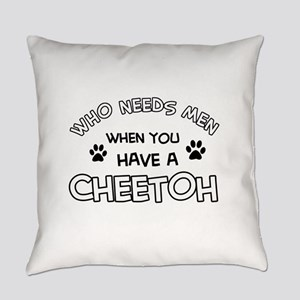 Cheetoh Cat Designs Everyday Pillow