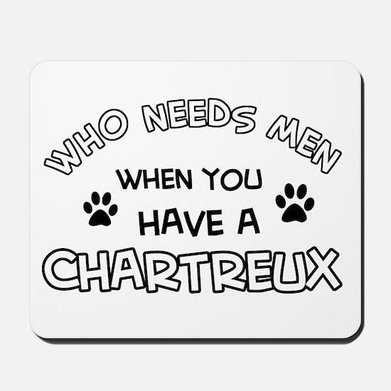 Chartreux Cat Designs Mousepad