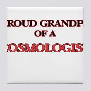 Proud Grandpa of a Cosmologist Tile Coaster