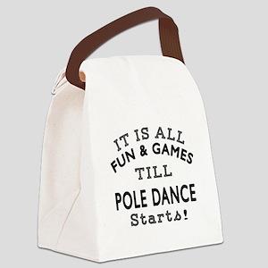 Pole dancing Dance Designs Canvas Lunch Bag