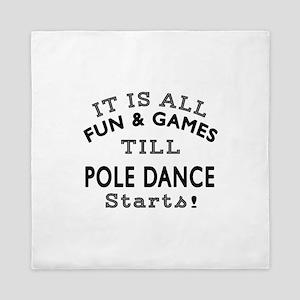 Pole dancing Dance Designs Queen Duvet