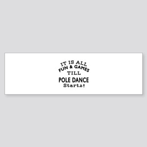 Pole dancing Dance Designs Sticker (Bumper)