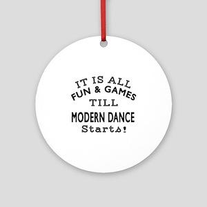 Modern Dance Designs Round Ornament