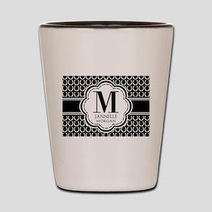 Black and White Custom Monogram Shot Glass