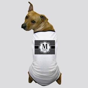 Black and White Custom Monogram Dog T-Shirt