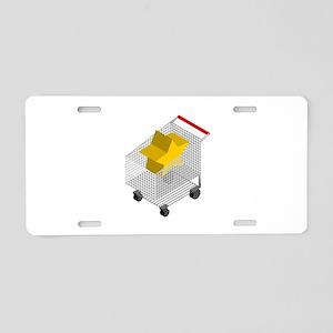 CM Isometric Shopping Cart Aluminum License Plate