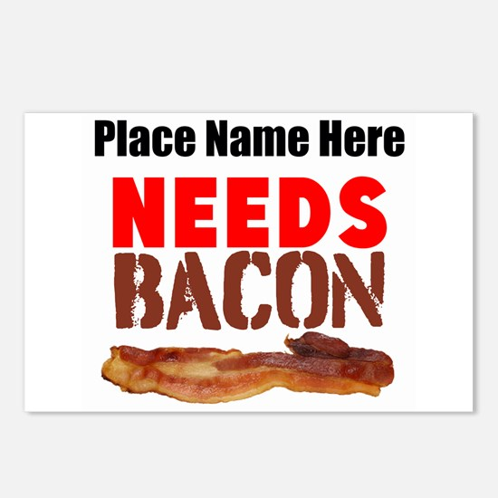 Needs Bacon Postcards (Package of 8)