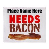 Bacon Fleece Blankets