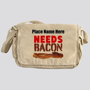 Needs Bacon Messenger Bag