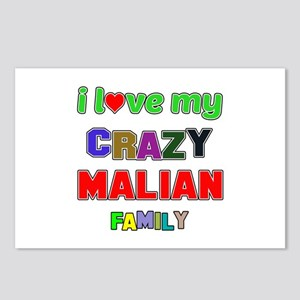 I love my crazy Malian fa Postcards (Package of 8)