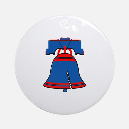 Liberty Bell Round Ornament
