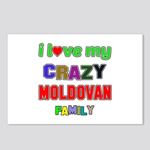 I love my crazy Moldovan Postcards (Package of 8)