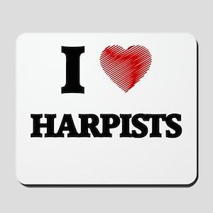 I love Harpists Mousepad