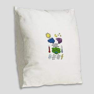 Weather chart symbols Burlap Throw Pillow