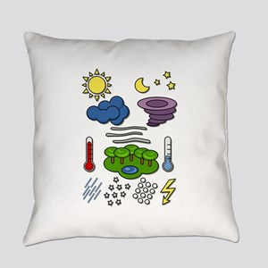 Weather chart symbols Everyday Pillow