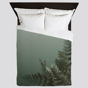 Fern Meadow Mist Queen Duvet