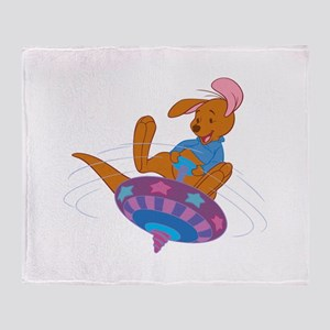 Winnie the Pooh Roo on top Throw Blanket