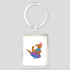 Winnie the Pooh Roo on top Keychains