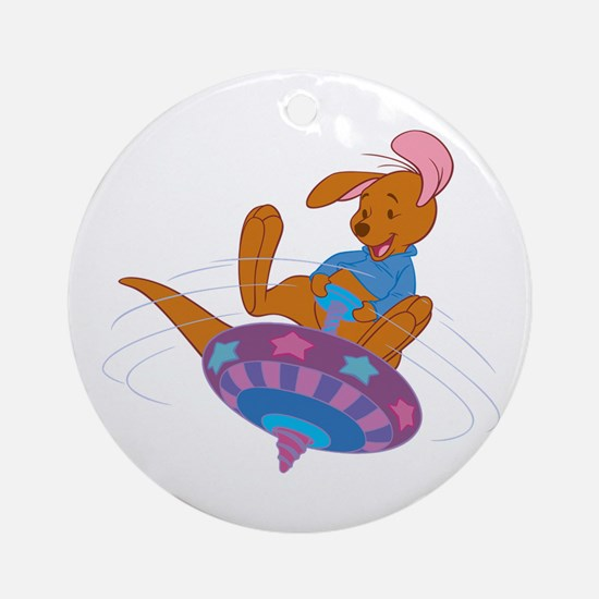 Winnie the Pooh Roo on top Round Ornament