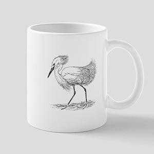 Egret on land Mugs