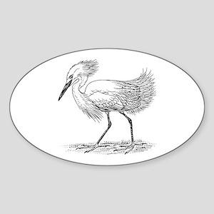 Egret on land Sticker