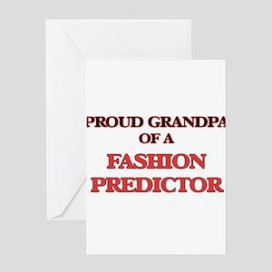 Proud Grandpa of a Fashion Predicto Greeting Cards