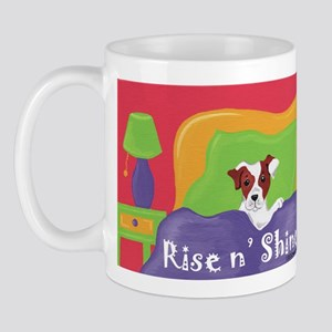 Rise and Shine Brown Jack Russell Terrier Mug