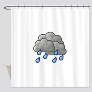 Weather showers scattered Shower Curtain