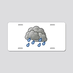 Weather showers scattered Aluminum License Plate
