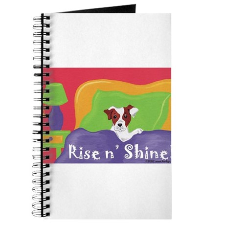 Rise and Shine Brown Jack Russell Terrier Journal
