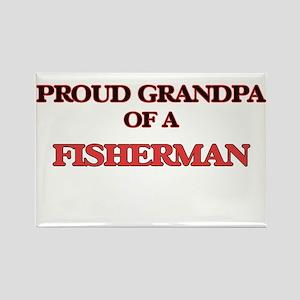 Proud Grandpa of a Fisherman Magnets