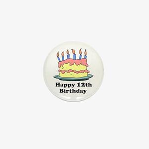 Happy 12th Birthday Mini Button