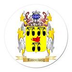 Rosenzweig Round Car Magnet