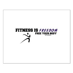 FITNESS IS FREEDOM Posters