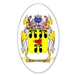 Rosenstengel Sticker (Oval)