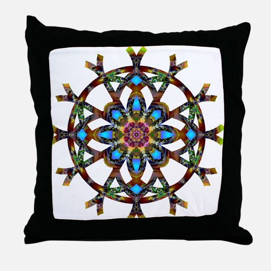 Phychedelic Mandala 010 A Throw Pillow