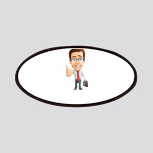 Cartoon Businessman Character With Tie Patch