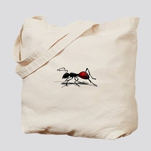 Black and red Ant Tote Bag