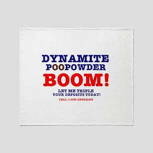 BOOM - DYNAMITE POOPOWDER Throw Blanket