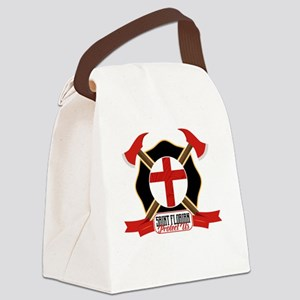 Saint Florian Shield Canvas Lunch Bag