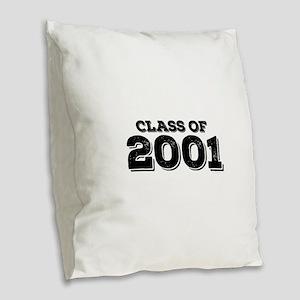 Class of 2001 Burlap Throw Pillow