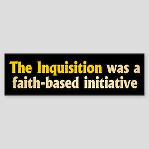 INQUISITION Bumper Sticker