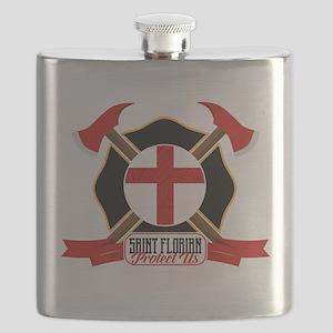 Saint Florian Shield Flask
