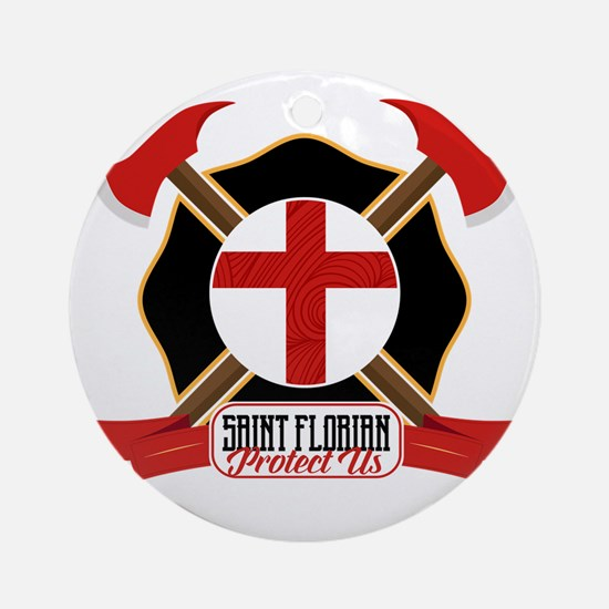 Saint Florian Shield Round Ornament