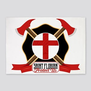 Saint Florian Shield 5'x7'Area Rug