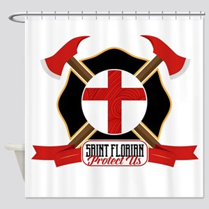 Saint Florian Shield Shower Curtain