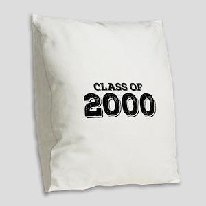 Class of 2000 Burlap Throw Pillow